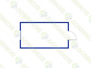 Блок-контенер бытовка - чертеж