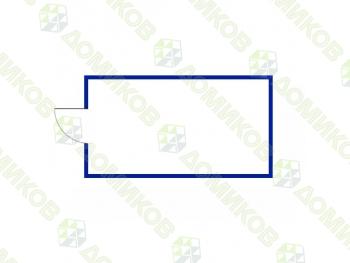 Хозблок металлический ХБ-02-схема