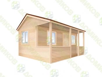 Садовый домик 6х4 м и верандой 6х2 м