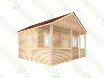 Садовый домик 6х7.5, веранда 6х1.5