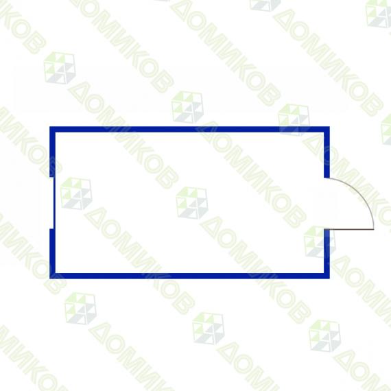 чертеж Блок-контейнер для дачи БК-01