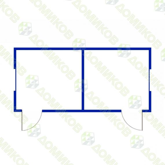 Блок-контейнер БК-08 - чертеж