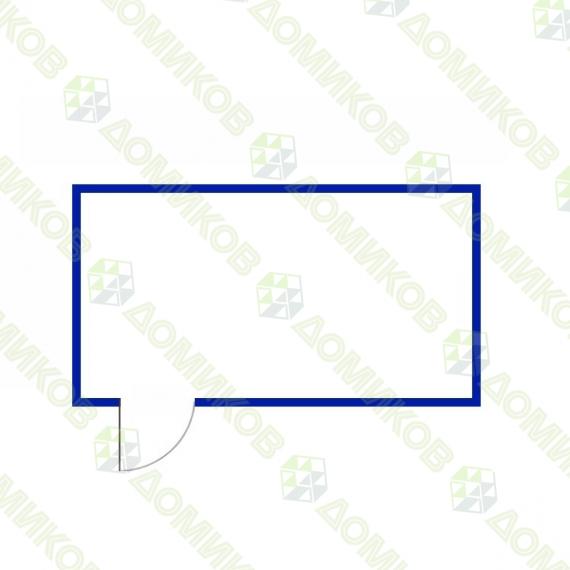 Хозблок деревянный ХБ-01 - схема