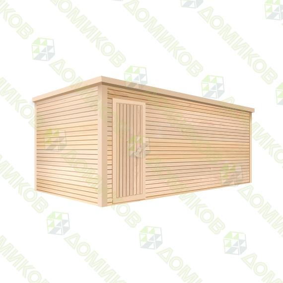 Хозблок деревянный для дачи ХБ-01